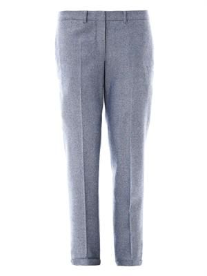 Herringbone wool trousers
