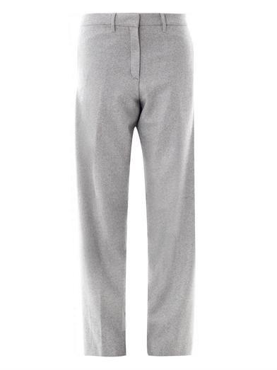 Richard Nicoll Herringbone wool trousers