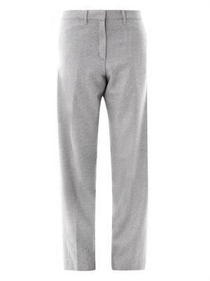 Herringbone wool trousers