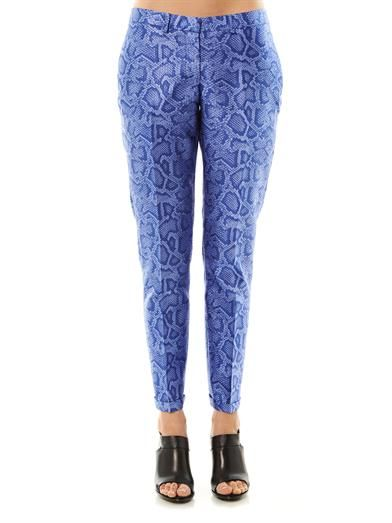 Richard Nicoll Snake-effect jacquard tailored trousers
