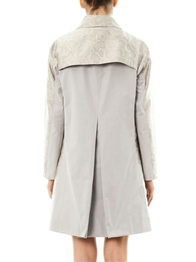 Richard Nicoll Snake-effect jacquard trench coat