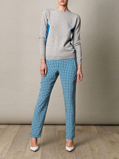 Richard Nicoll Geometric-print trousers