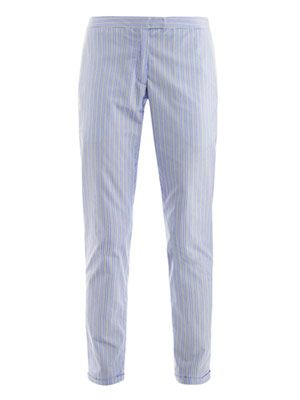 Shirting-stripe suit trousers
