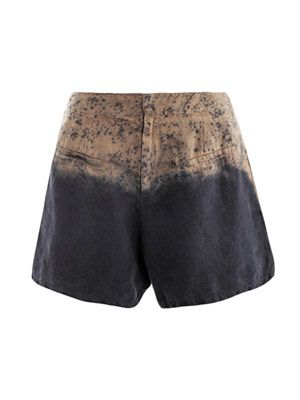 Tan spray degrade shorts