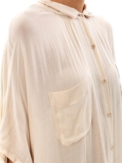Raquel Allegra Poet step-hem dress