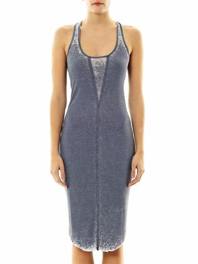 Raquel Allegra Burnout-jersey tank dress