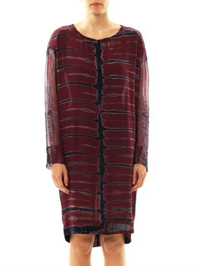 Raquel Allegra Tetra-print silk dress