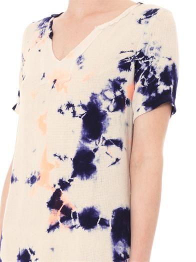 Raquel Allegra Cosmic tie-dye silk dress