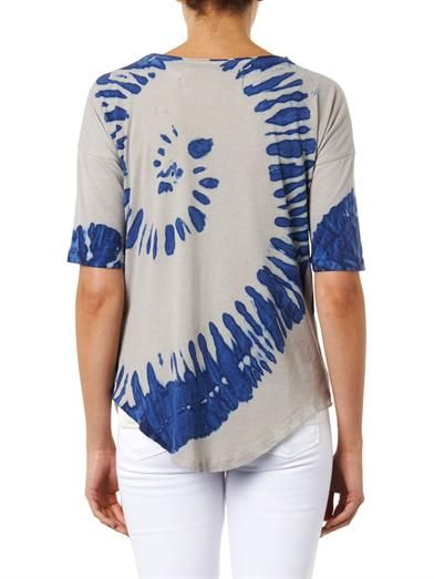 Raquel Allegra Shredded-front jersey T-shirt