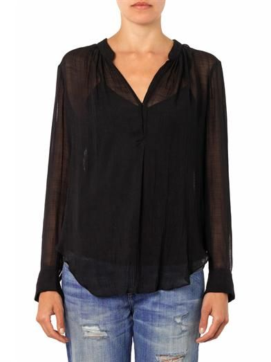 Raquel Allegra Riviera sheer blouse