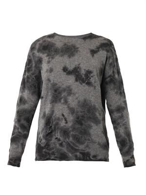 Tie-dye wool cashmere-blend sweater