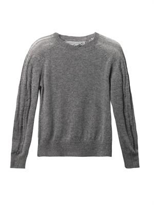 Shredded wool cashmere-blend sweater