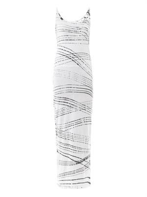 Rain optic-print maxi dress