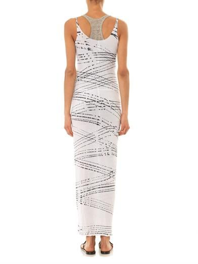Raquel Allegra Rain optic-print maxi dress