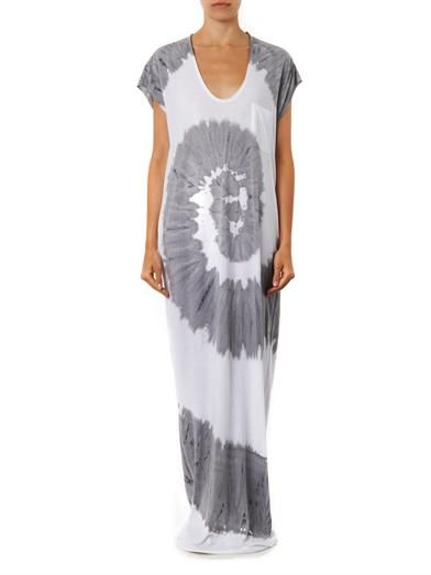 Raquel Allegra Tie-dye jersey maxi dress