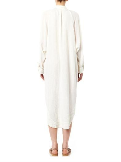 Raquel Allegra Poet cotton-gauze dress