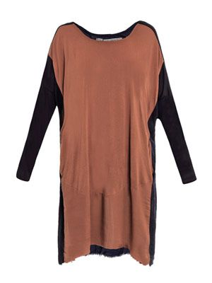 Bi-colour oversized jersey dress