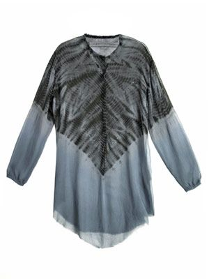 Tie dye sheer-silk tunic