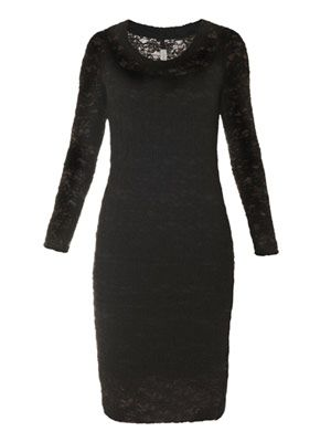 French lace body-con dress