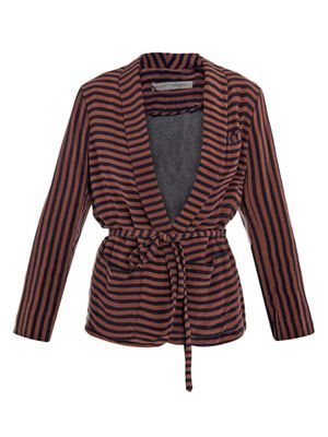 Silk stripe jacket