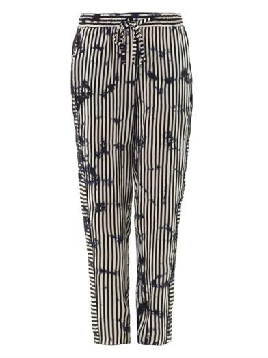 Raquel Allegra Striped Cloud silk trousers