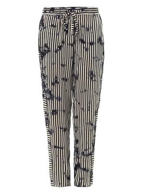 Striped Cloud silk trousers