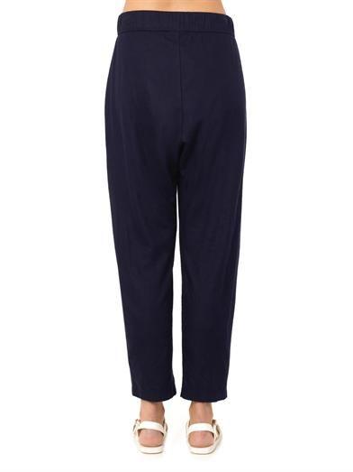 Raquel Allegra Raw-silk easy pants