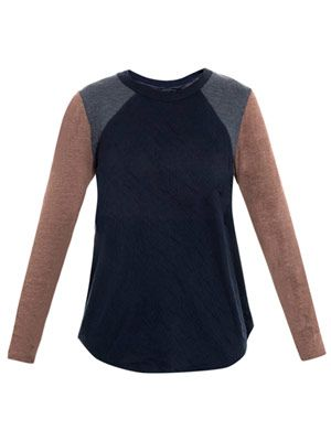 Bi-colour jersey top