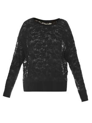 French lace sweatshirt
