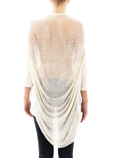 Raquel Allegra Deconstructed cocoon top