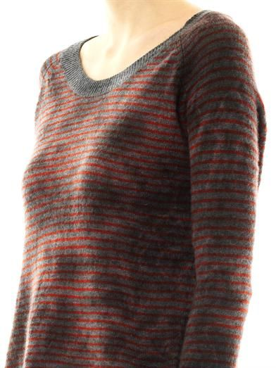 Raquel Allegra Stripe cashmere sweater