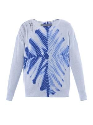Tie-dye cashmere-knit sweater