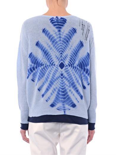 Raquel Allegra Tie-dye cashmere-knit sweater