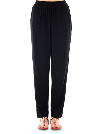 Raquel Allegra Mojave tapered-leg trousers