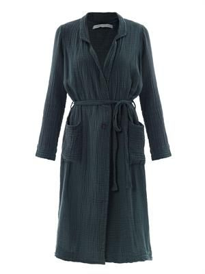 Cotton-gauze trench coat