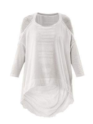 Dirty-white deconstructed cocoon top