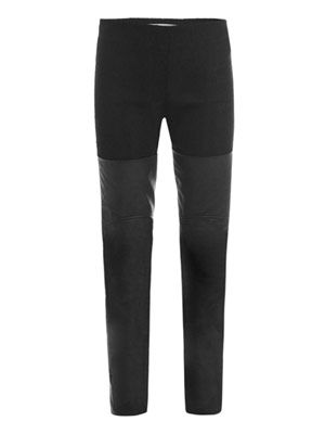 Heavy ribbed and leather boot trousers
