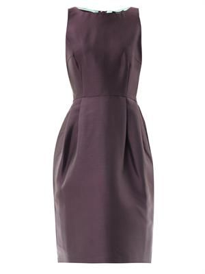 Pleat-back bell dress
