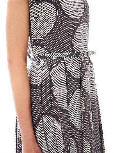 Raoul Circles-print pleated dress
