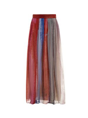 Cecil watercolour silk skirt