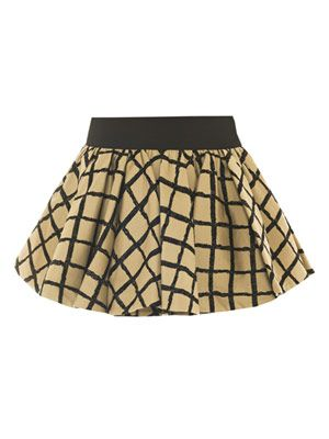 Daisy check mini skirt