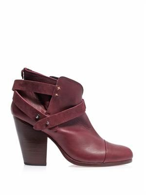 Harrow leather & suede ankle boots