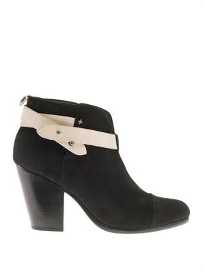 Harrow suede and leather ankle boots