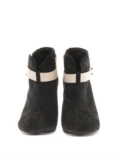 Rag & Bone Harrow suede and leather ankle boots