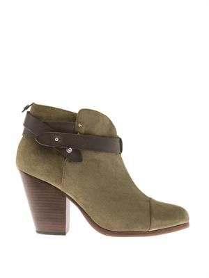 Harrow suede and leather ankle-boots