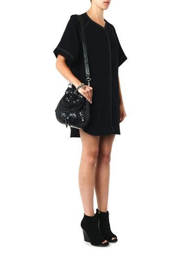 Rag & Bone Varsity crepe dress