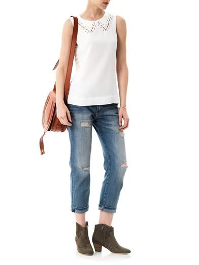 Rag & Bone Lillian lace-up top