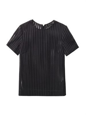 Oda sheer striped top