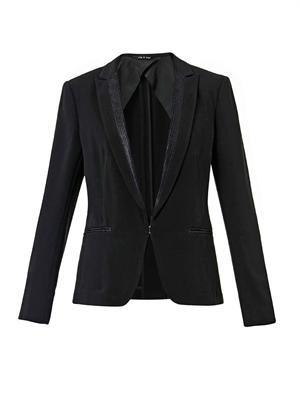 Lorimer crepe blazer
