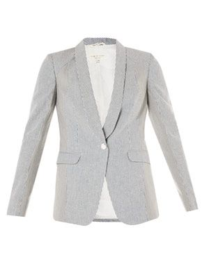 Jefferson stripe-print blazer